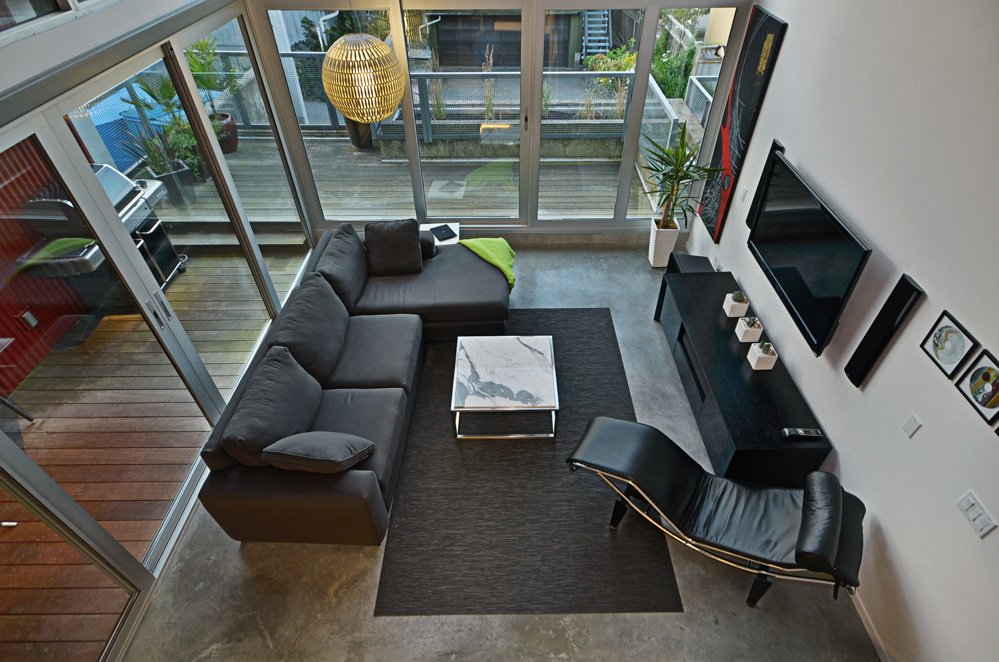 Roar One Living Room - Modern Homes Vancouver