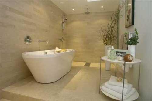 Minimalist bathroom at The Vue