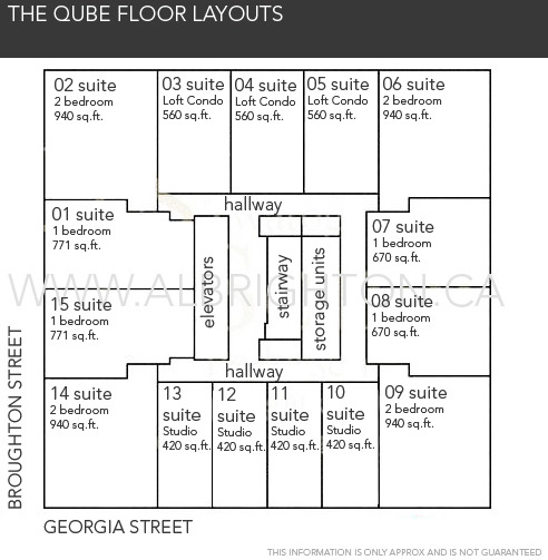 QUBE layout on floors