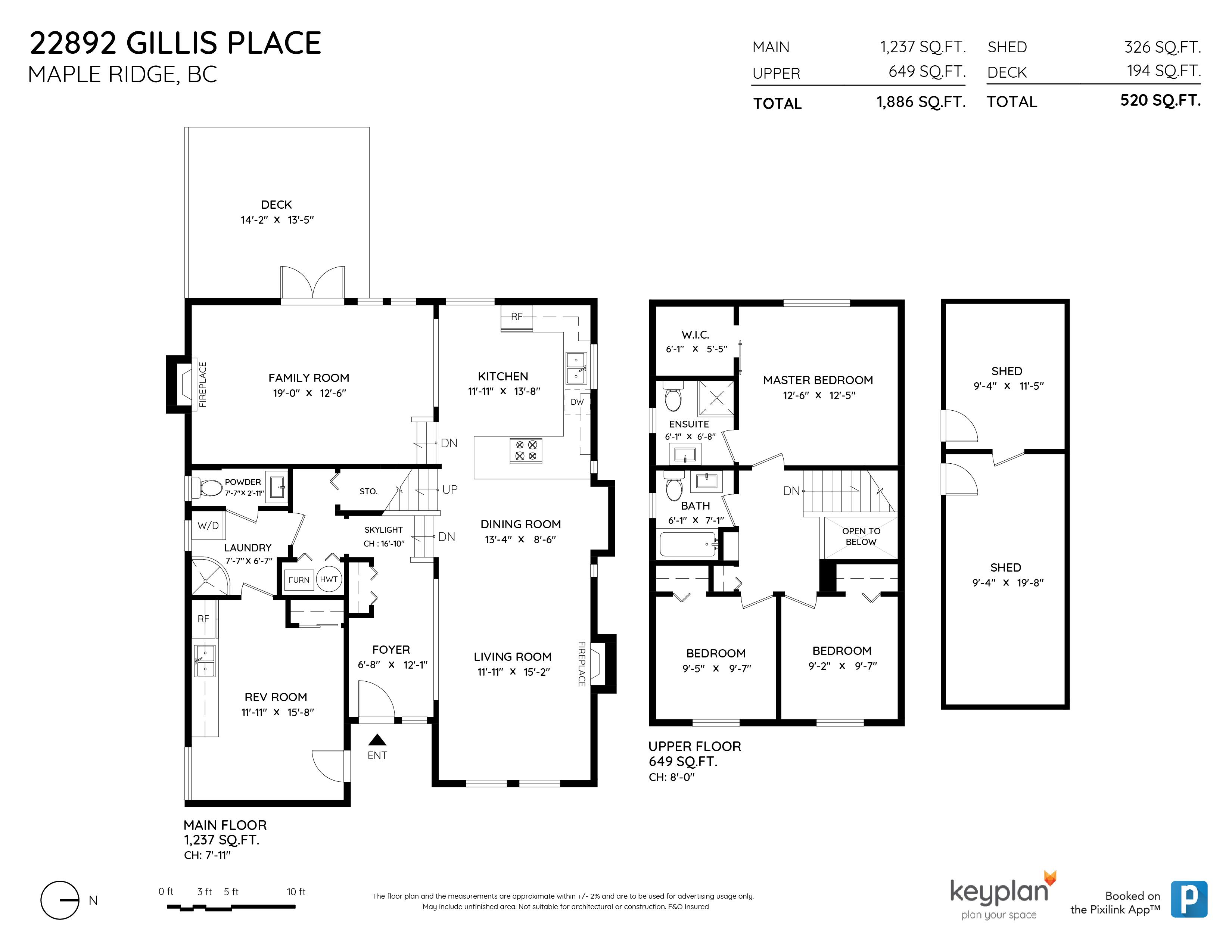 22892 GILLIS PLACE, Maple Ridge, BC Floor Plan