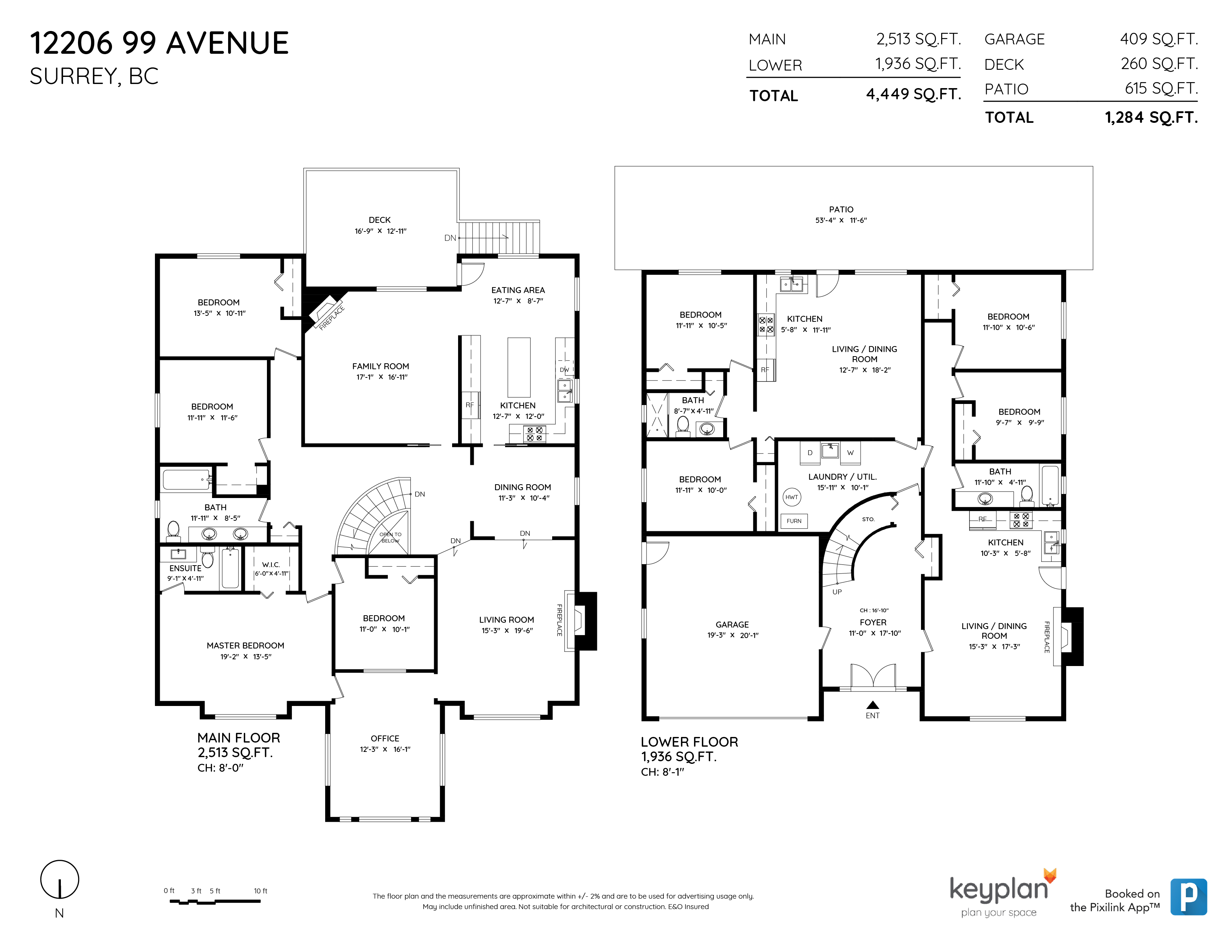 12206 99 AVENUE, Surrey, BC Floor Plan