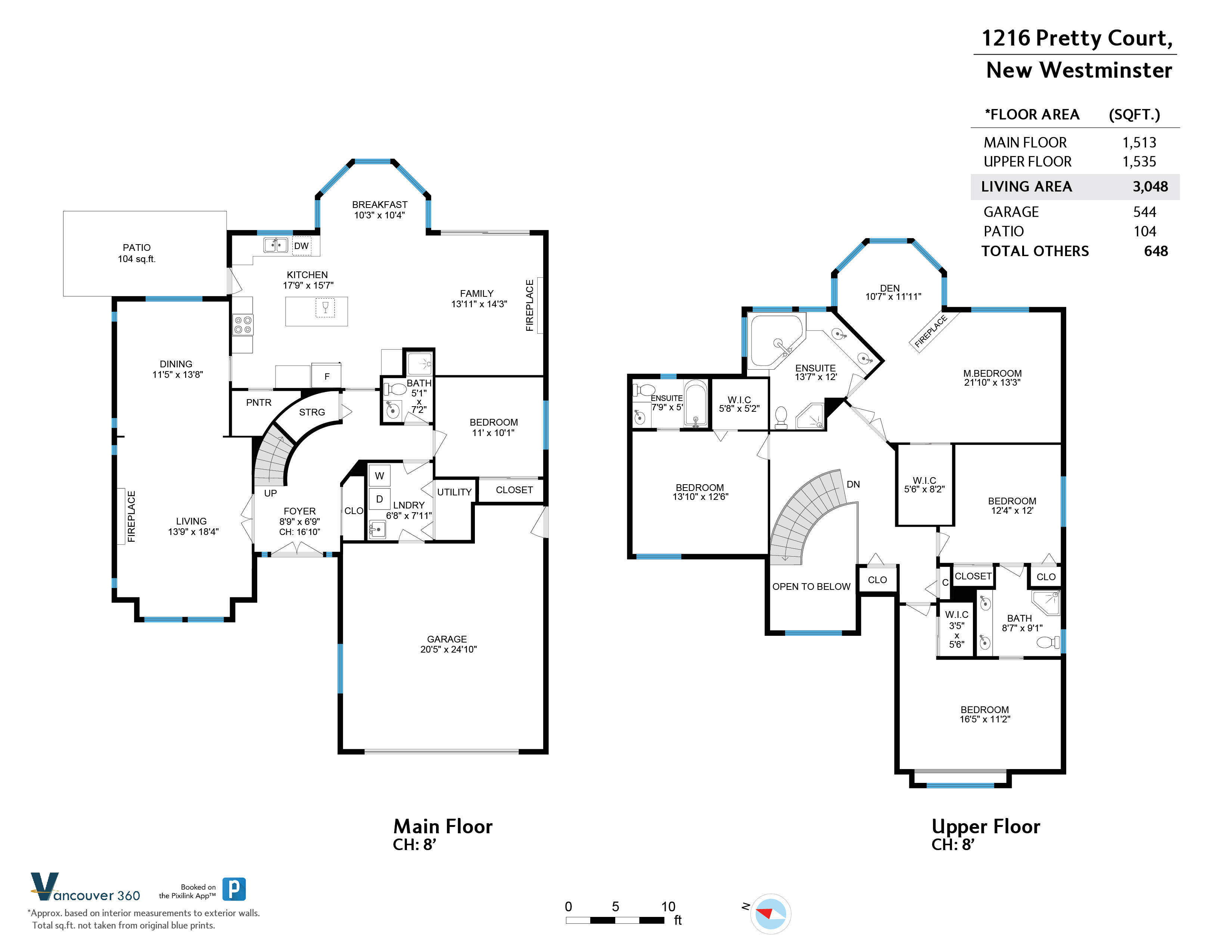 1216 PRETTY COURT, New Westminster, BC Floor Plan