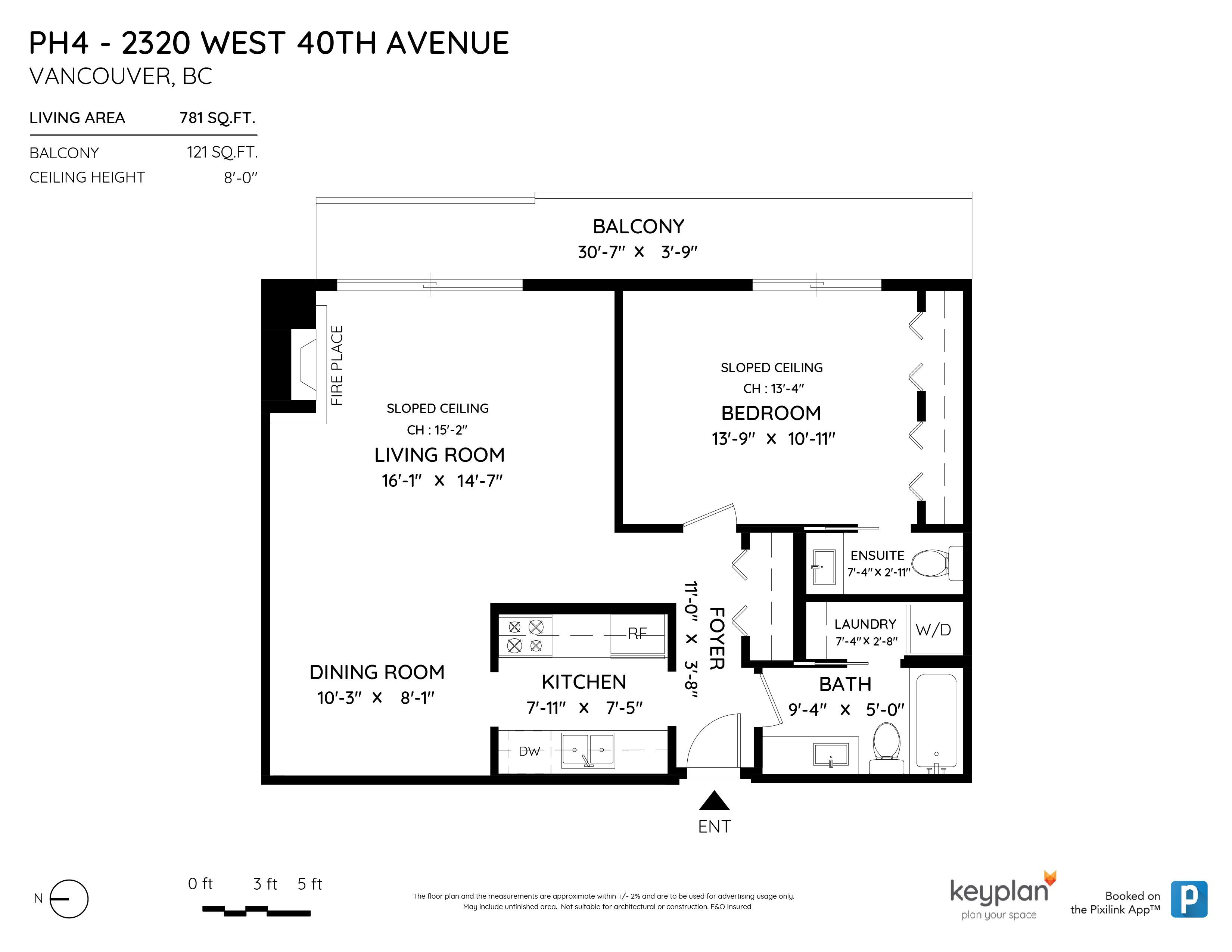 PH4 2320 W 40TH AVENUE, Vancouver, BC Floor Plan