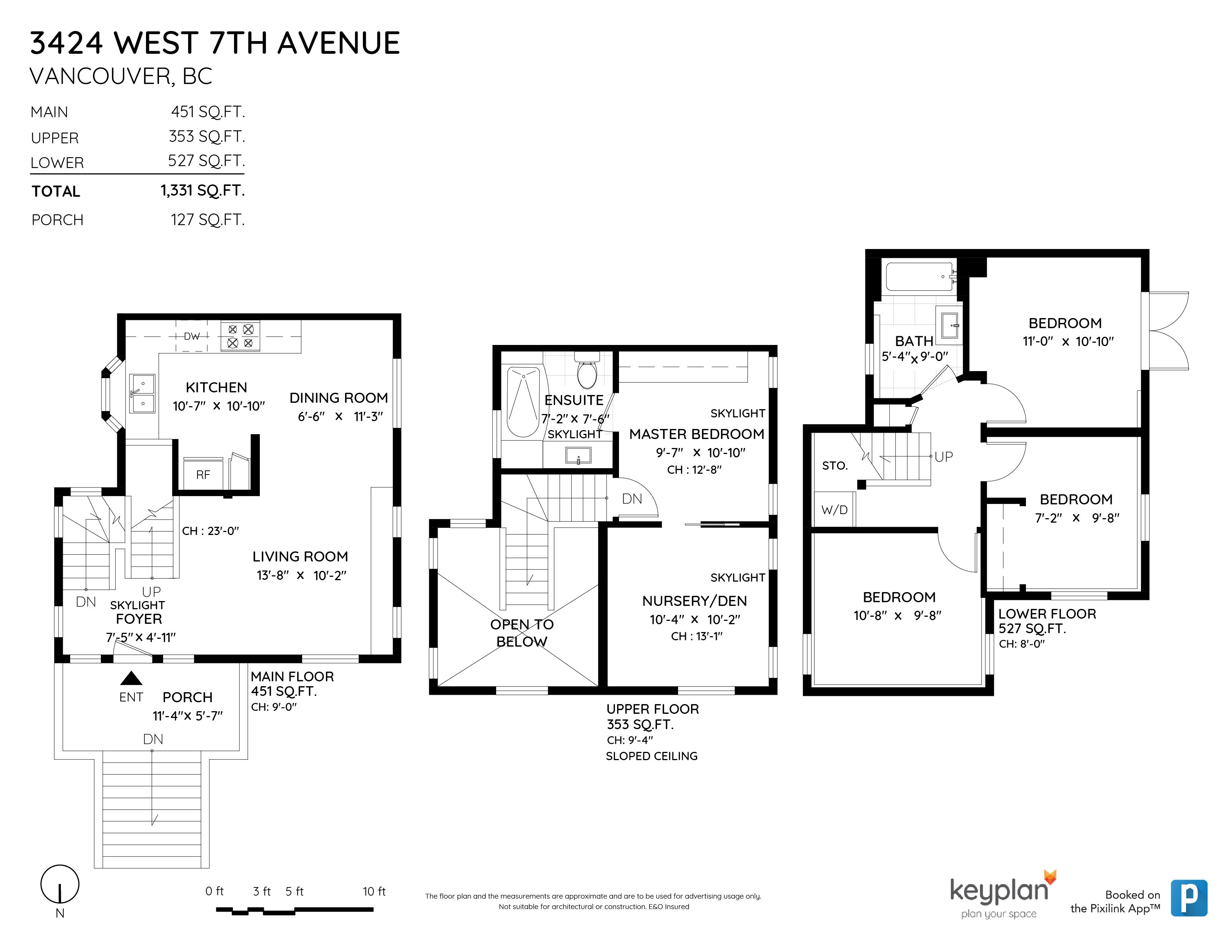 3424 W 7TH AVENUE, Vancouver, BC Floor Plan