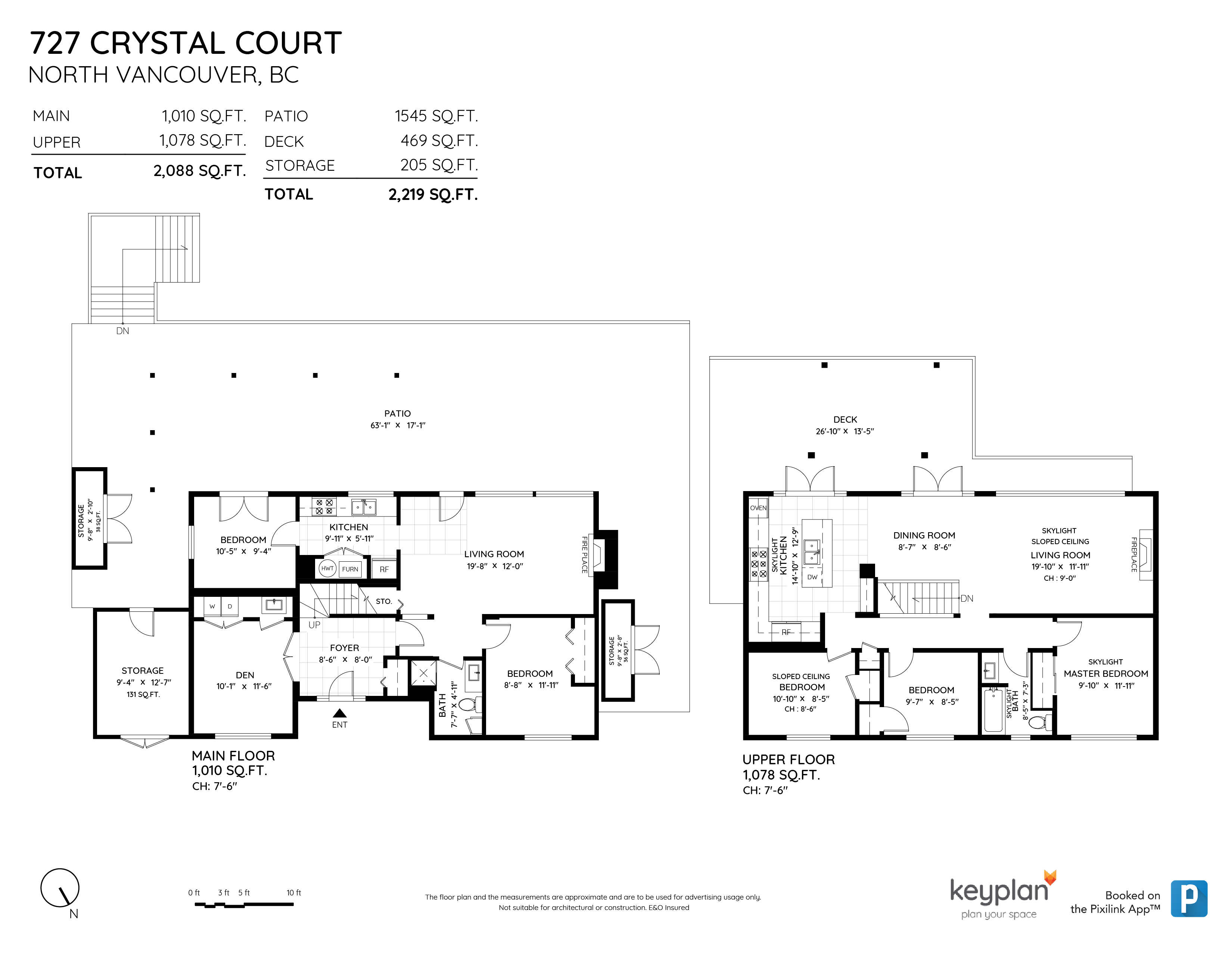 727 CRYSTAL COURT, North Vancouver, BC Floor Plan