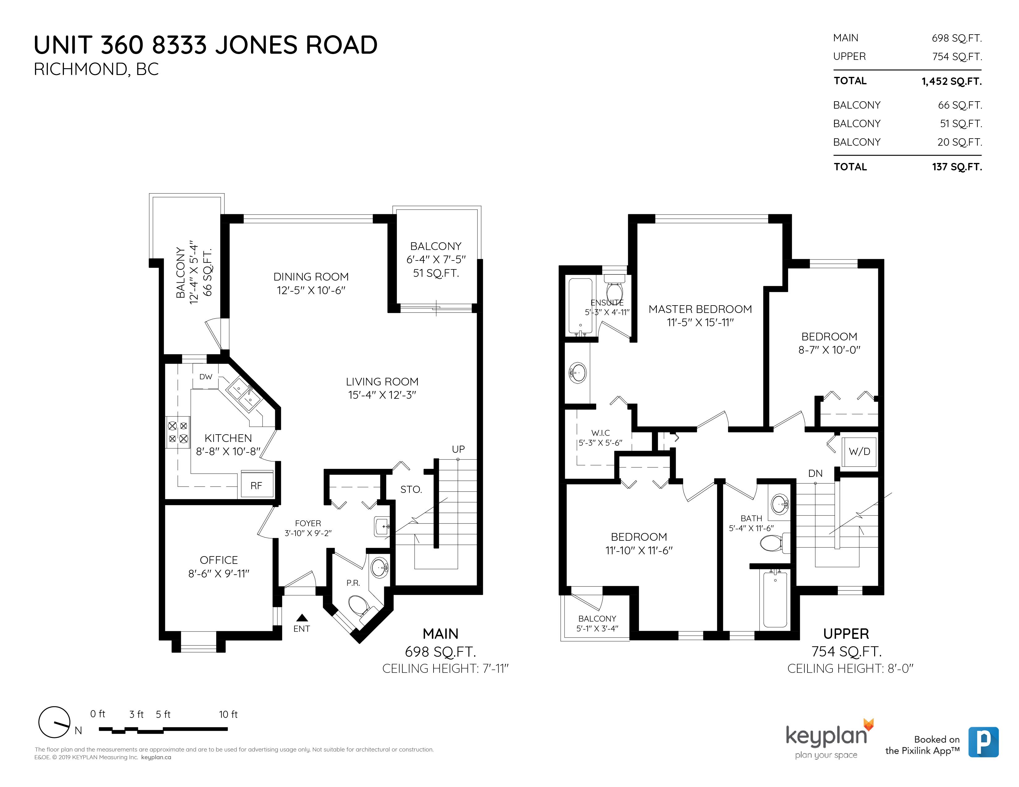 360 8333 JONES ROAD, Richmond, BC Floor Plan