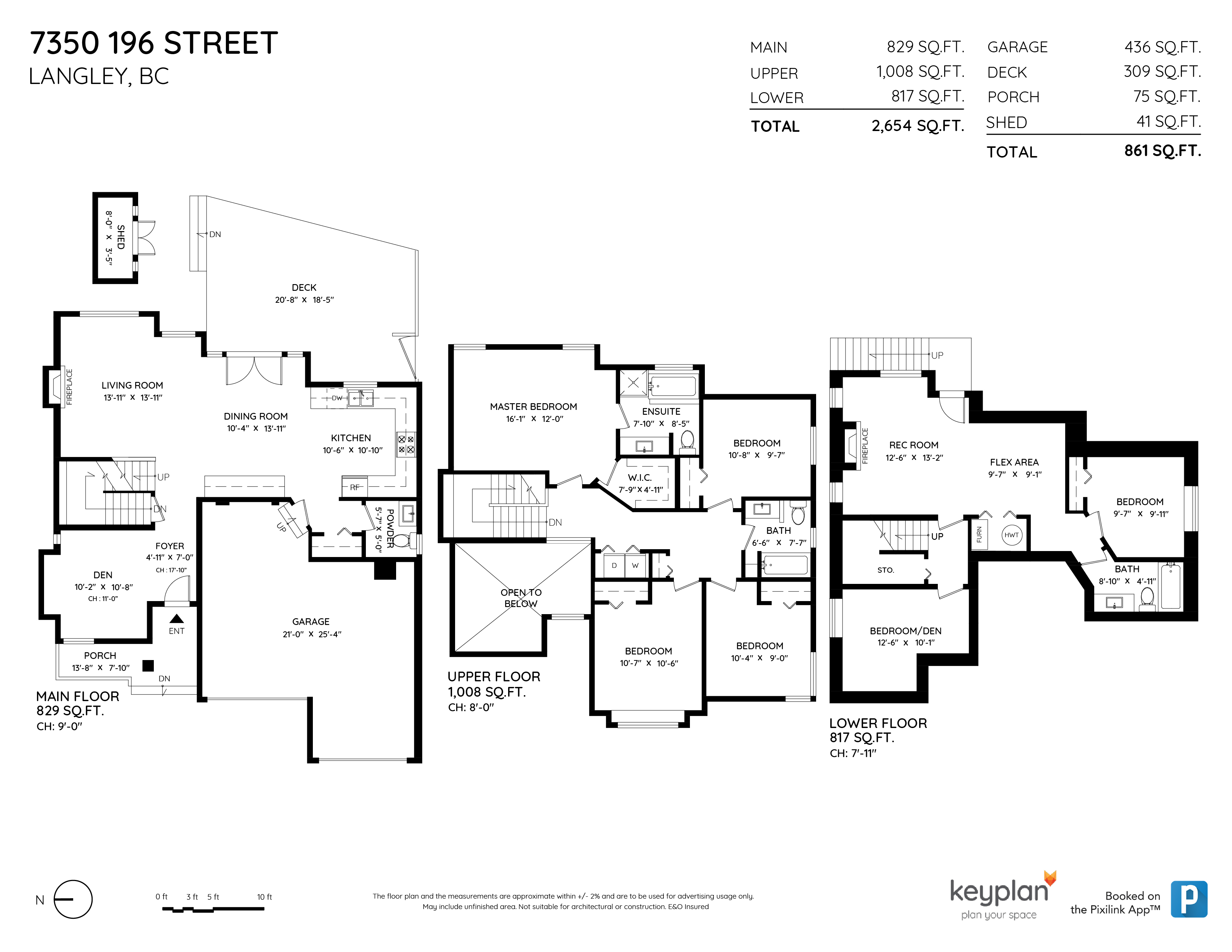 7350 196 STREET, Langley, BC Floor Plan