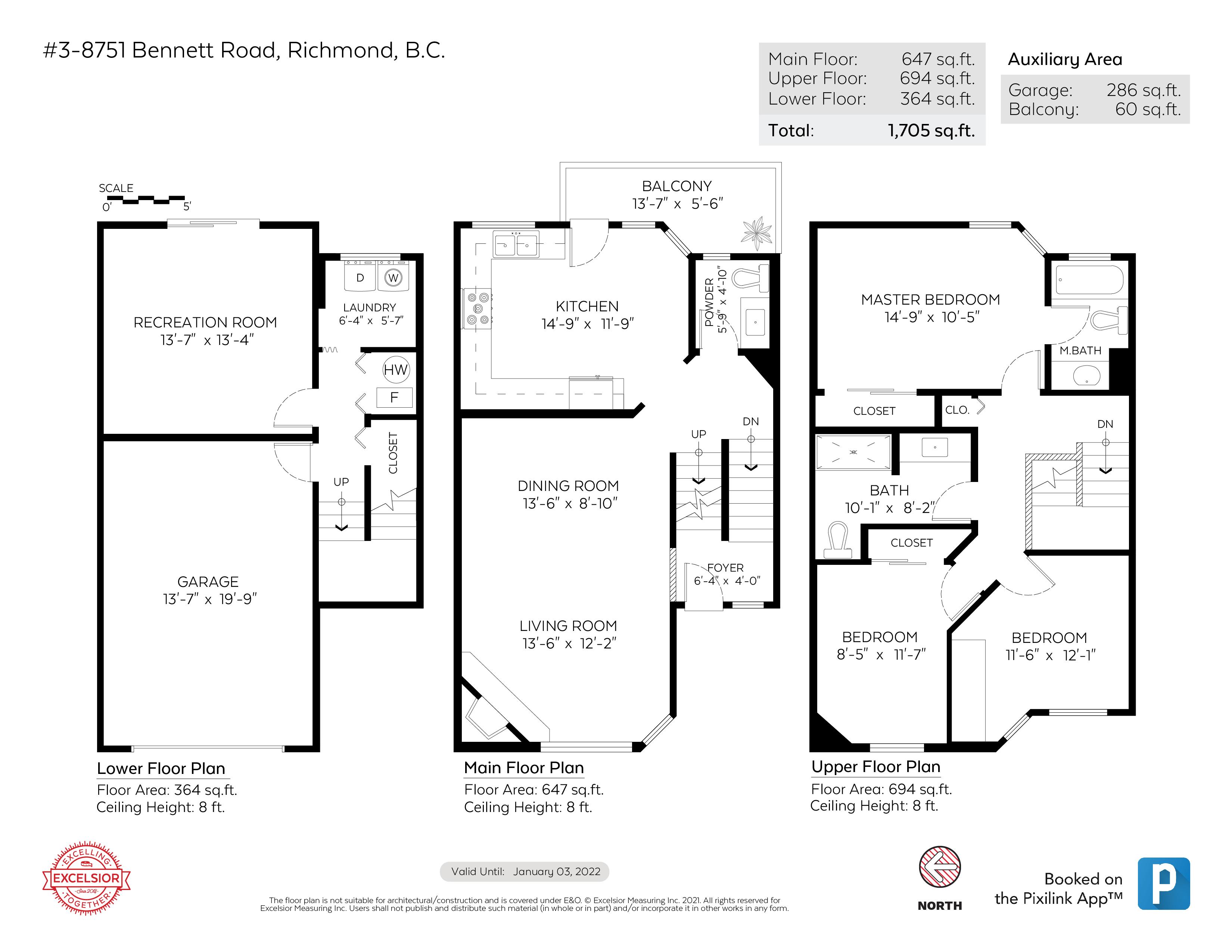 3 8751 BENNETT ROAD, Richmond, BC Floor Plan