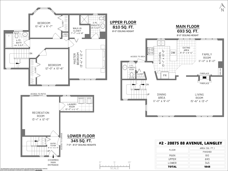 2 20875 88 AVENUE, Langley, BC Floor Plan